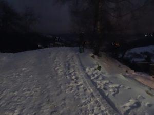 toumo dans la neige